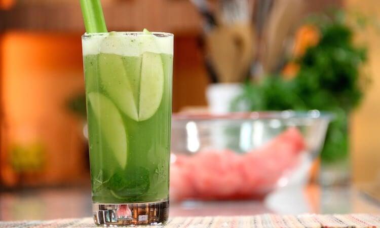 عصير الألوة فيرا، الخيار والتفاح