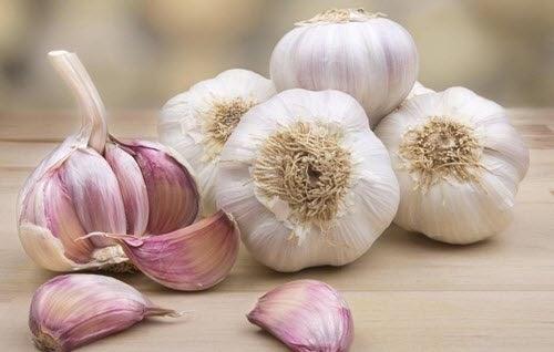 بعض من حبات الثوم الكاملة والفصوص