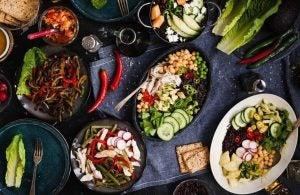 مجموعة أطعمة منخفضة الدهون
