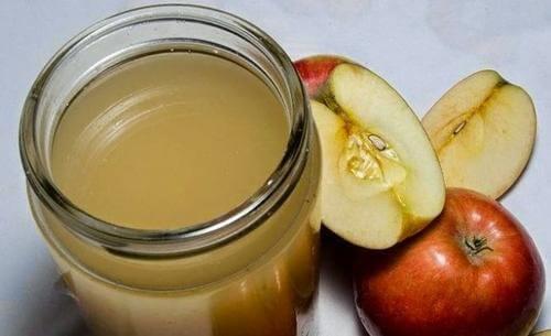خل التفاح والزنجبيل