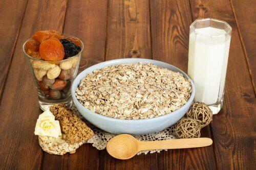 شوفان وحليب لإنقاص الوزن