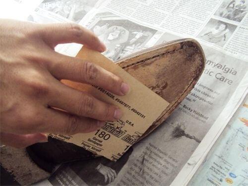 صنفرة الحذاء