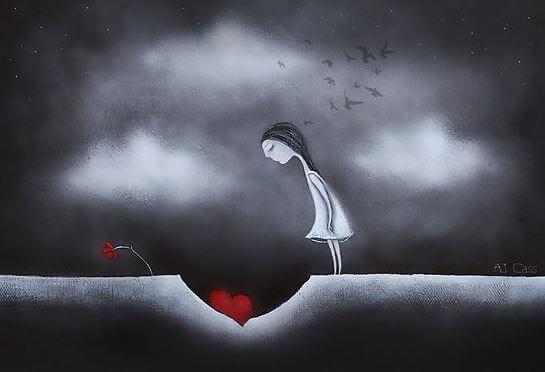 فتاة تزرع قلبها في الأرض