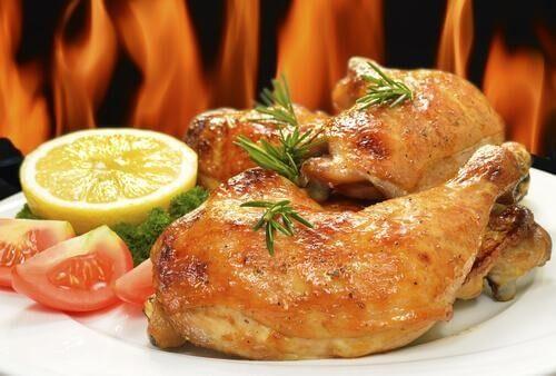 قطع الدجاج المطهي