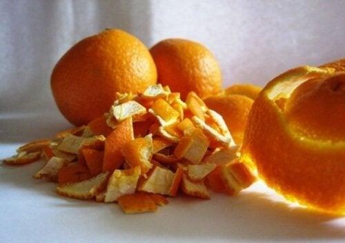 كمادات شاي قشر البرتقال