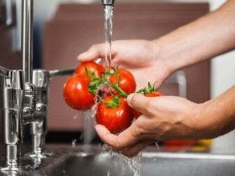 تطهير الفواكه والخضروات