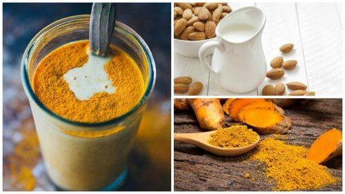 مشروب الكركم وحليب اللوز – وسيلة فعالة لمكافحة الالتهابات