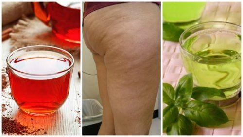 محاربة السيلوليت – 6 مشروبات من الأعشاب الطبيعية لمحاربة السيلوليت