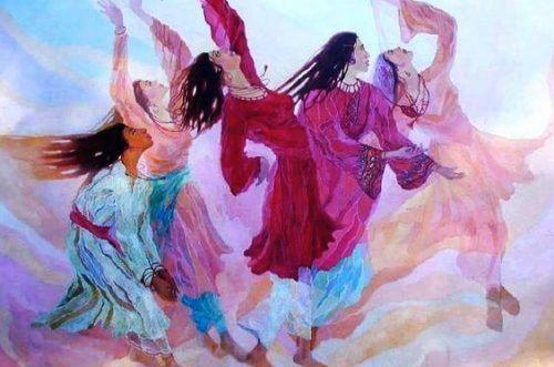 امرأة ترقص