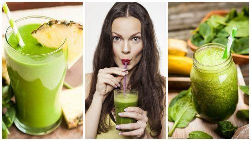 عصائر السموذي الخضراء – 5 وصفات للتخلص من السموم وفقدان الوزن