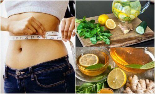 محاربة النفخة –  استعن بالزنجبيل والليمون لمكافحة النفخة وخسارة الوزن