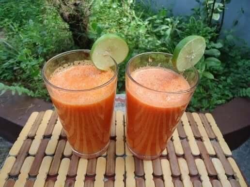 سموذي الزنجبيل، البرتقال والجزر و صحة البشرة
