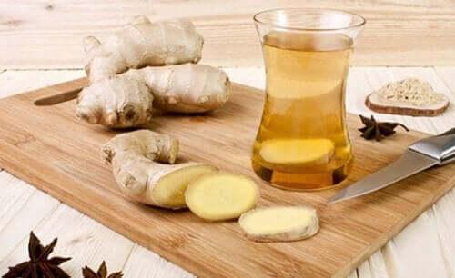 شاي الزنجبيل و صحة البشرة