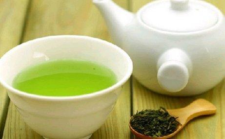مكونات الشاي الأخضر