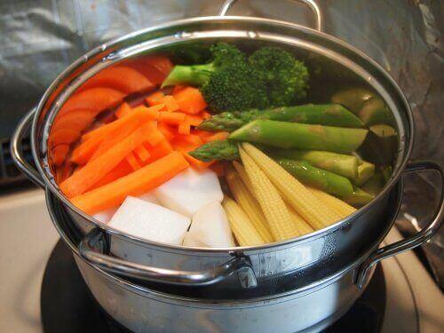 غلي الخضروات