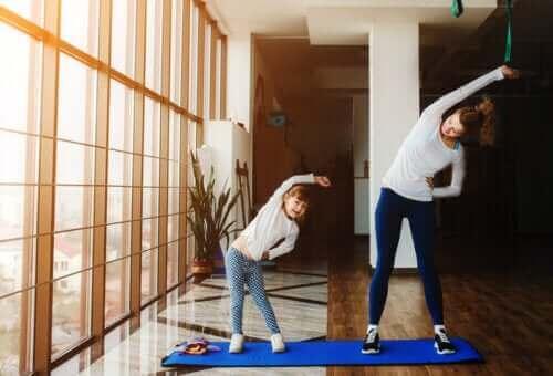 ممارسة الرياضة من الأنشطة المنزلية