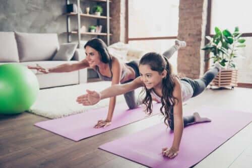 التمارين الافتراضية وفوائدها بالنسبة للأطفال