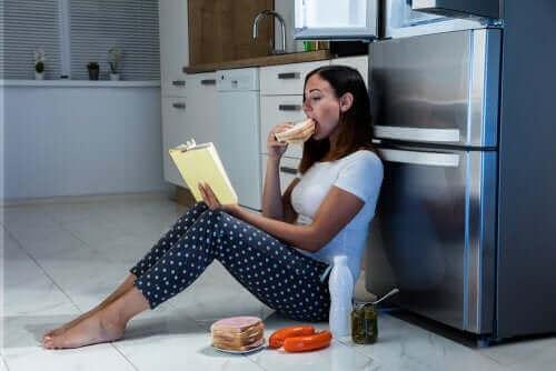 سمات متلازمة الأكل الليلي
