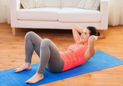 تمرين عضلات البطن العلوية
