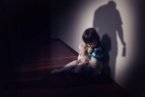 طفل خائف