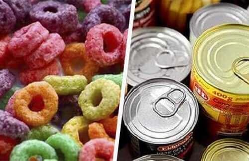 النظام الغذائي الصحي والأطعمة المعالجة