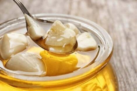 الثوم الطازج مع العسل