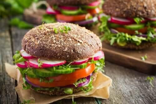 برجر نباتي - النظام الغذائي النباتي