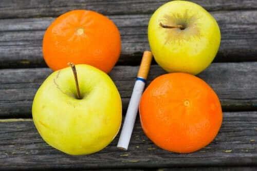آثار التدخين والفواكه