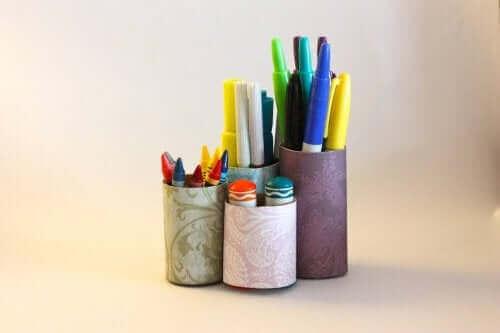 حاملات أقلام - الديكور الصديق للبيئة
