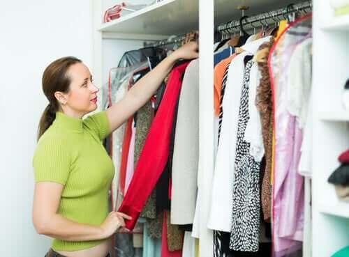 دولاب الملابس المنسق