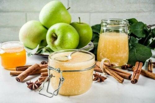 جيلاتين التفاح الأخضر وبذور الشيا الصحي