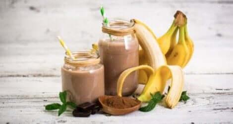وصفة عصير الموز، الشوفان، والكاكاو